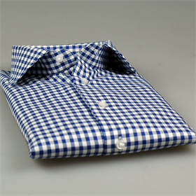 Ign. Joseph offers exquisite shirts made in Italy, using the finest of all natural fabrics, Egyptian cotton. This blue-and-white checked shirt in a slim fit with single cuffs will do nicely in a casual setting. Click here.