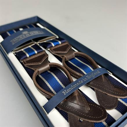 Albert Thurston Braces stripe navy/royal
