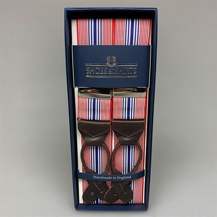 Albert Thurston Braces stripes red/blue
