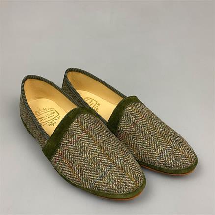 Bowhill & Elliott House slipper harris tweed