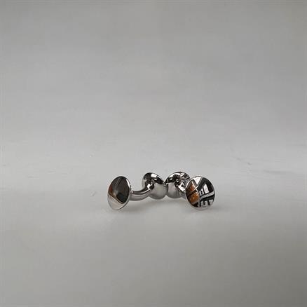 Codis Maya Cufflink bow silver color