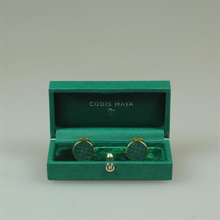 Codis Maya Cufflink brompton green gold