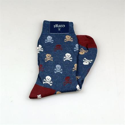 Corgi Sock skull & bones