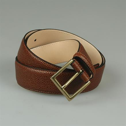 Crockett & Jones Belt tan scotch grain