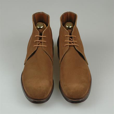Crockett & Jones Chukka unlined snuff suede