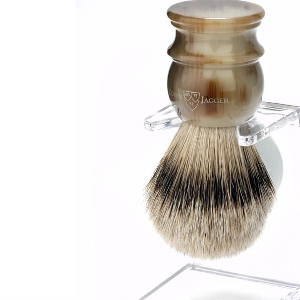 Edwin Jagger Shaving brush m silvertip badg