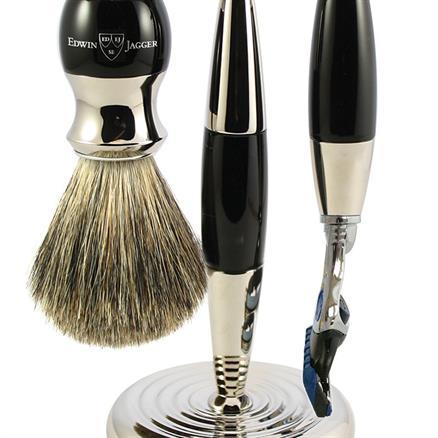Edwin Jagger Shaving set 3pcs ebony look