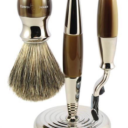 Edwin Jagger Shaving set 3pcs horn