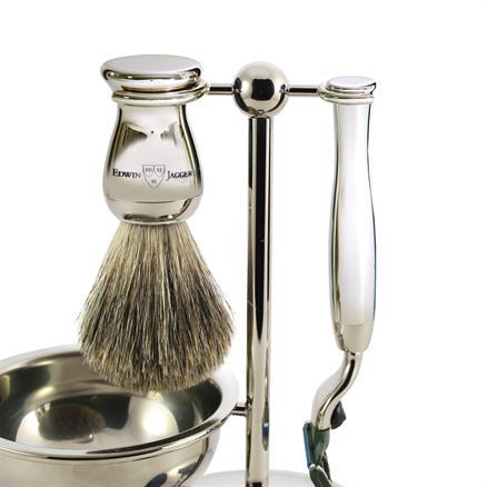 Edwin Jagger Shaving set 4 pcs chrome