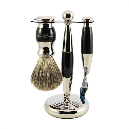 Edwin Jagger Shaving set fusion ebony look