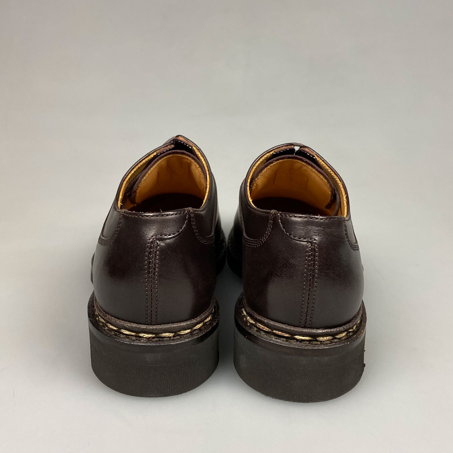 Stones And Dents In Leather Sole Shoes