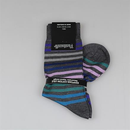 Pantherella Colour stripe cotton