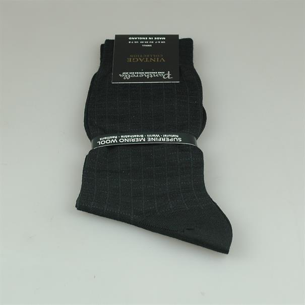 Pantherella Sock black check merino