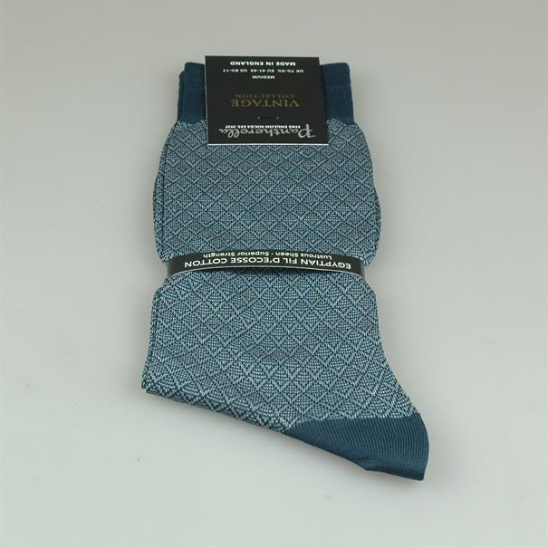 Pantherella Sock cotton pattern light