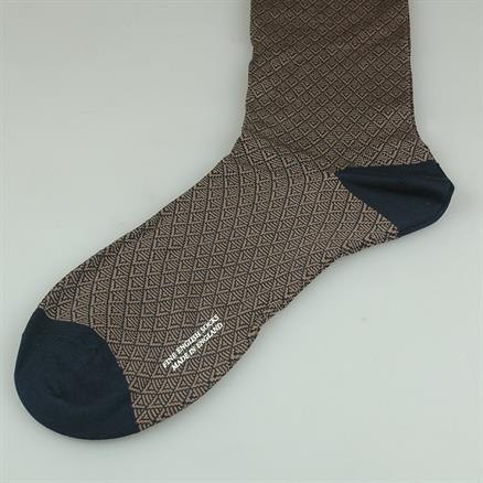 Pantherella Sock cotton pattern navy