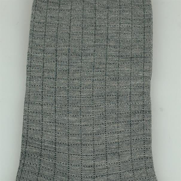 Pantherella Sock grey check merino