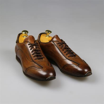 Santoni Sella leather