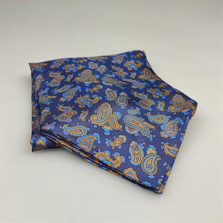Shoes & Shirts Ascot tie paisley gold