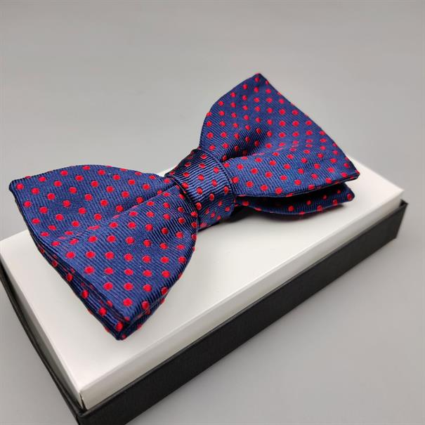 Shoes & Shirts Bow-tie red polkadot