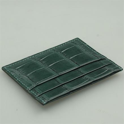 Shoes & Shirts Card holder real croco