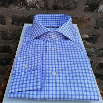 Shoes & Shirts Cutaway slim check