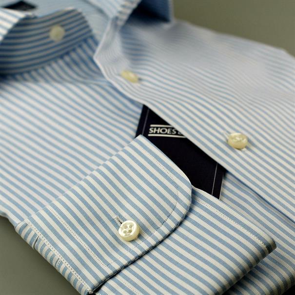 Shoes & Shirts Cutaway stripe s/cuff