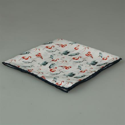 Shoes & Shirts Pocket square flamingo