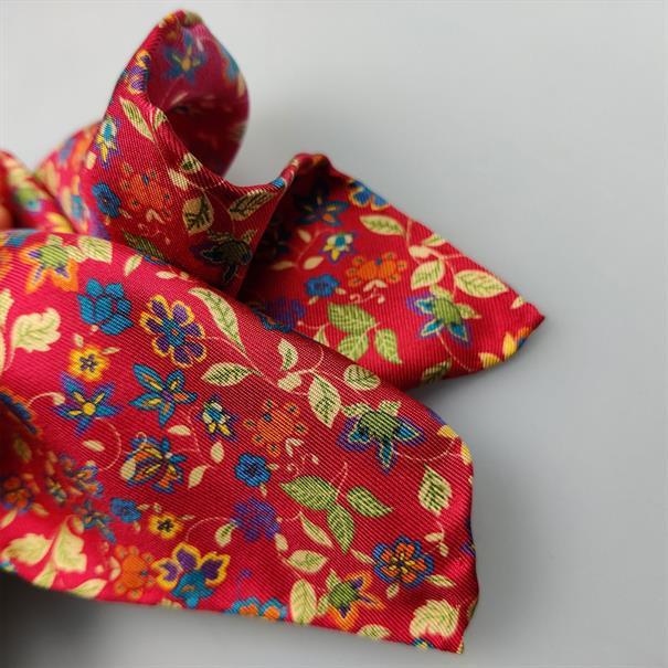 Shoes & Shirts Pocket square silk fleur