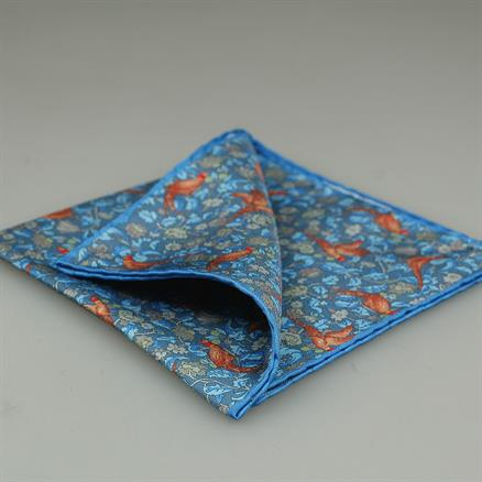 Shoes & Shirts Pocket square silk pheasant