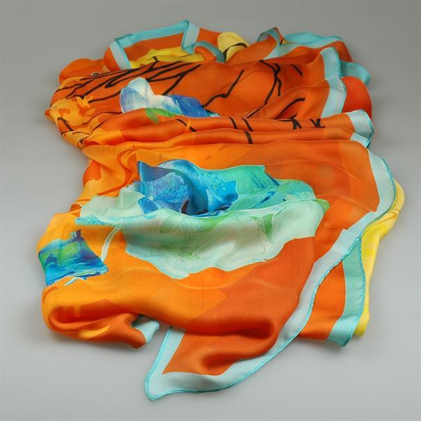 Shoes & Shirts Scarf chale satin silk