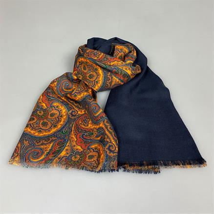 Shoes & Shirts Scarf wool bright paisley