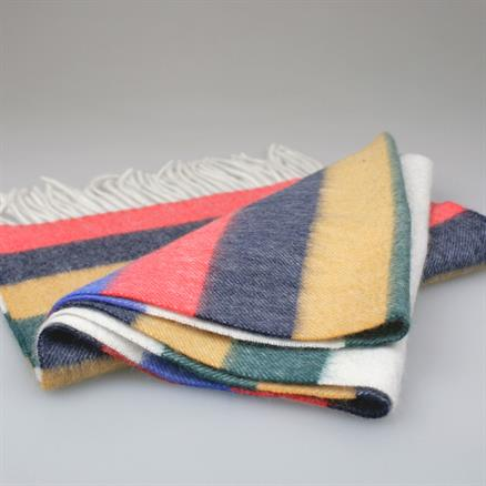 Shoes & Shirts Scarf wool/cashm multi stripe