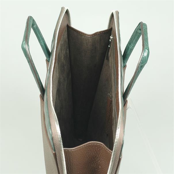 Shoes & Shirts Sottobraccio real croco