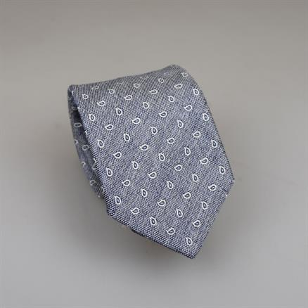 Shoes & Shirts Tie silk/cotton paisley