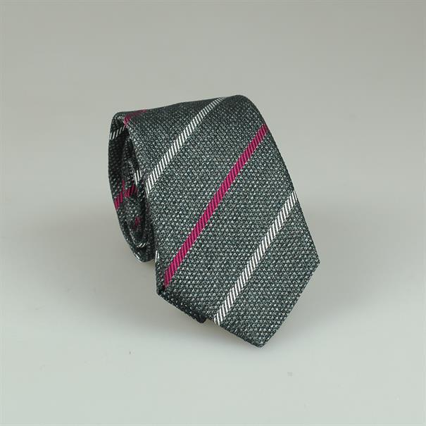 Shoes & Shirts Tie silk/cotton stripe
