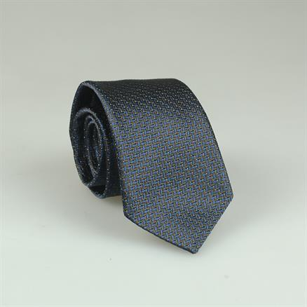 Shoes & Shirts Tie silk/cotton zig zag