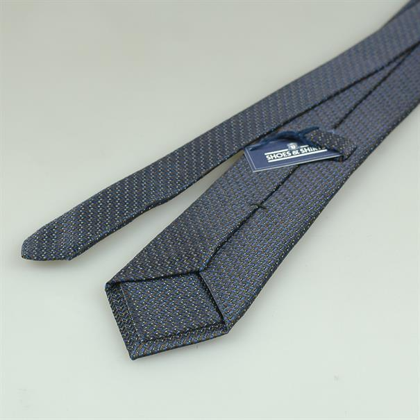 Shoes & Shirts Tie silk/cotton zig zag