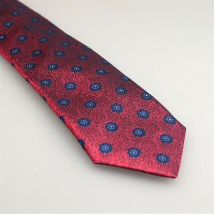 Shoes & Shirts Tie silk fleur bleu