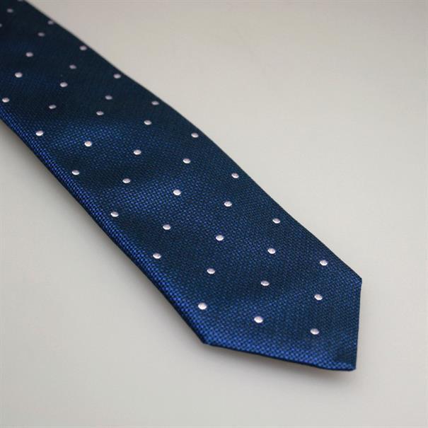 Shoes & Shirts Tie silk white polkadot