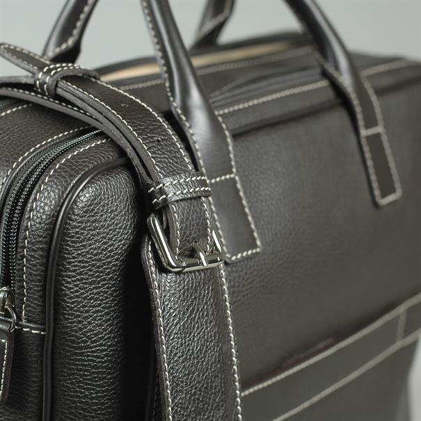 Shoes & Shirts Two zip briefcase grain