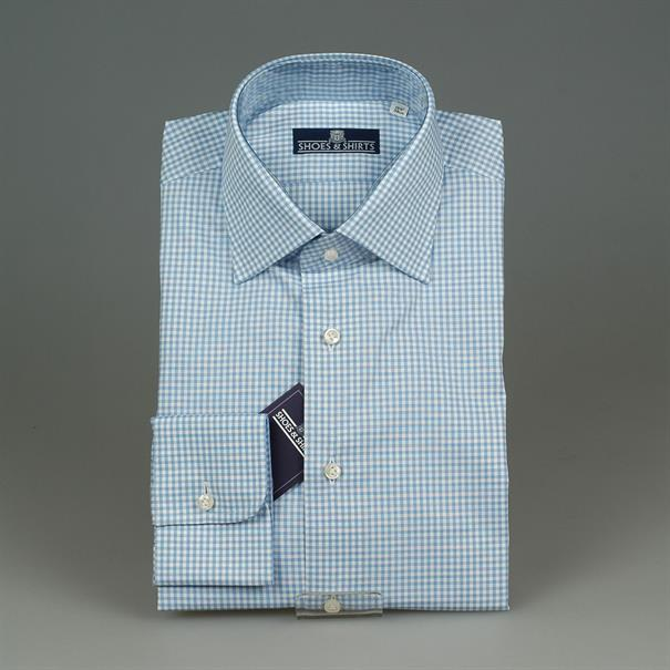 Shoes & Shirts Windsor check s/cuff