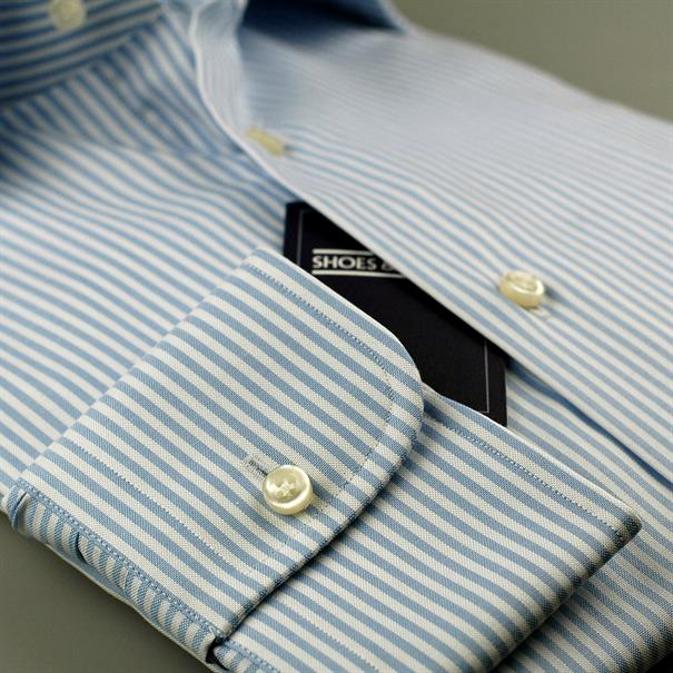 Shoes & Shirts Windsor stripe s/cuff