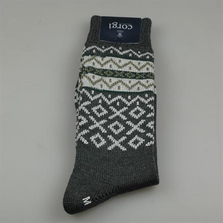 Sock fairlisle wool/cotton