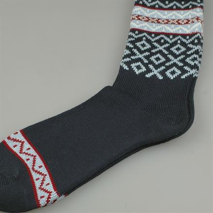 Sock fairlisle wool/cotton