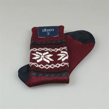 Sock fairlisle wool