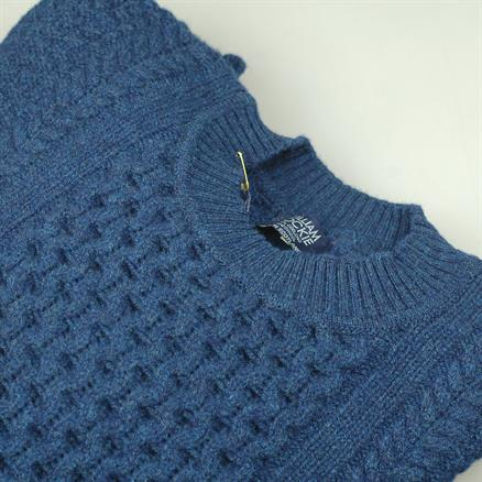 William Lockie Cable crew neck wool