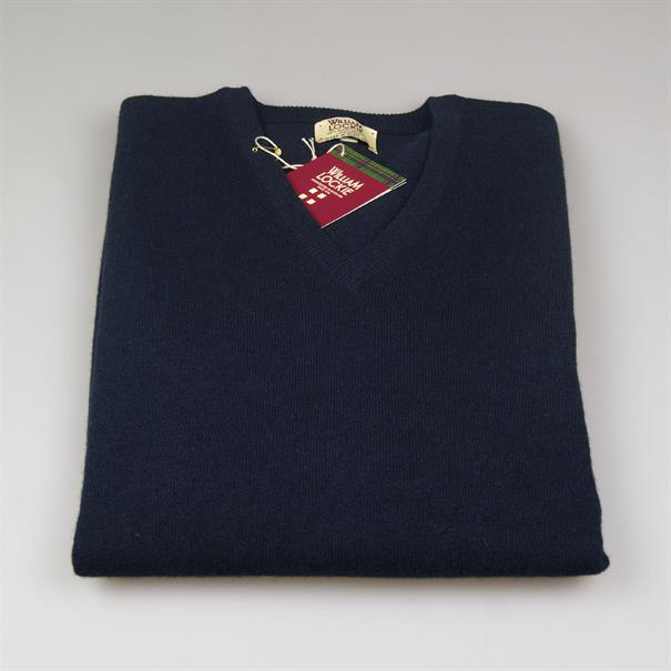 William Lockie V-neck geelong navy