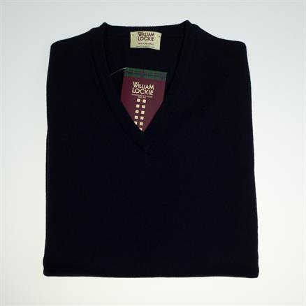 William Lockie Vee neck merino wool